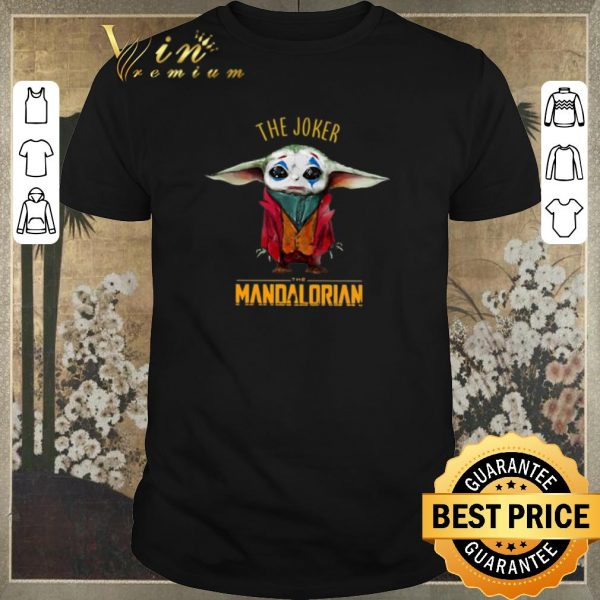 Funny Baby Yoda The Joker The Mandalorian shirt sweater
