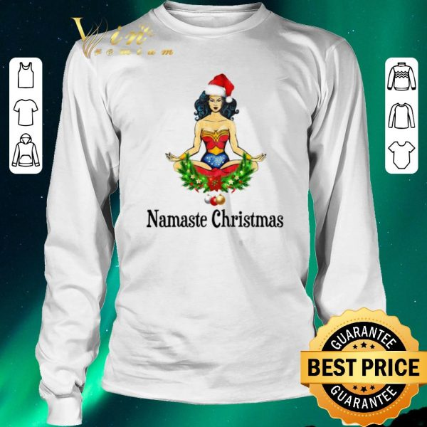 Funny Christmas Santa Wonder Woman Namaste shirt