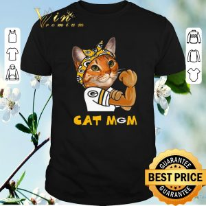Funny Green Bay Packers Strong Cat Mom shirt