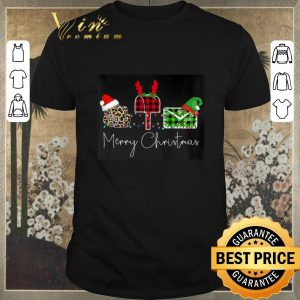 Funny Mail Merry Christmas Leopard Plaid shirt sweater