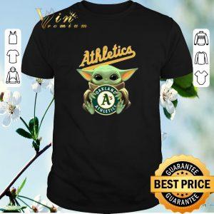 Funny Star Wars Baby Yoda Hug Oakland Athletics shirt