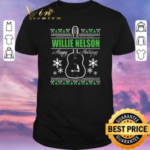 Funny Ugly Christmas Willie Nelson Guitar sweater