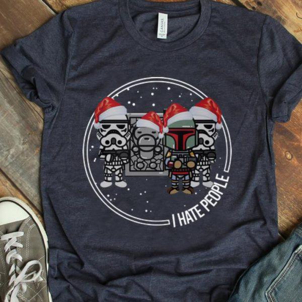 Great Christmas The Mandalorian Boba Fett I Hate People shirt