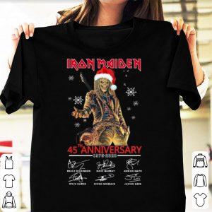 Great Iron Maiden Santa 45th Anniversary Signatures Christmas shirt