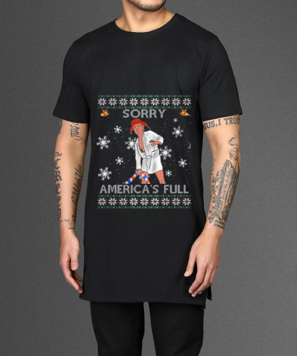 Great Sorry America's Full Funny Anti Trump Ugly Christmas shirt