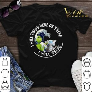 Grinch Baby Yoda i will drink here there White Claw Hard Seltzer shirt sweater