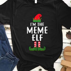Hot I'm The Meme Elf Matching Family Group Christmas sweater