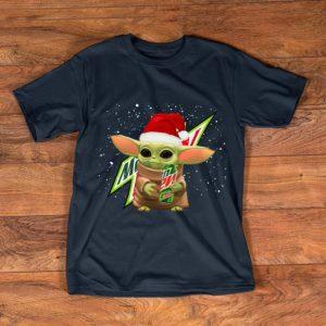 Hot Mountain Dew Santa Baby Yoda Merry Christmas shirt