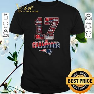 Hot New England Patriots 17 AFC East 2019 Division Champions shirt