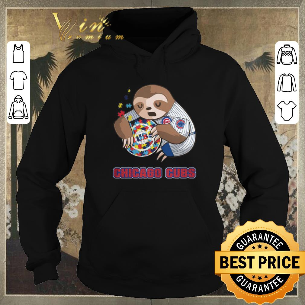 Hot Sloth hug Autism Chicago Cubs shirt sweater 4 - Hot Sloth hug Autism Chicago Cubs shirt sweater
