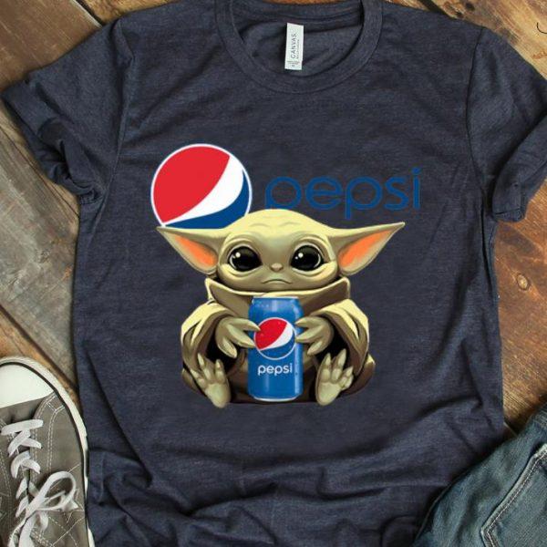 Hot Star Wars Baby Yoda Hug Pepsi shirt