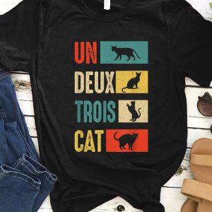 Hot Un Deux Trois Cat French Cat Lover Vintage shirt