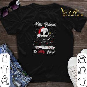 Jack Skellington Merry Christmas ya filthy animals shirt sweater