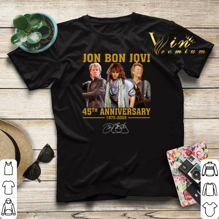 Jon Bon Jovi 45th Anniversary 1975 2020 Signature shirt sweater 4 - Jon Bon Jovi 45th Anniversary 1975 2020 Signature shirt sweater