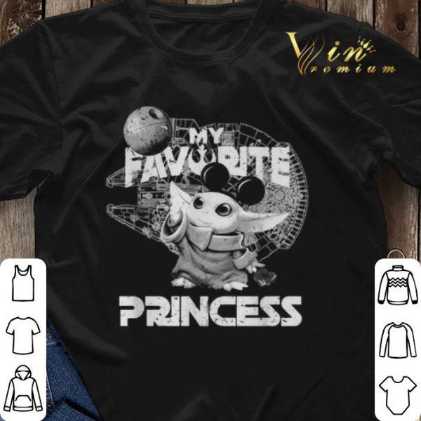Mickey Baby Yoda My Favorite Princess Star Wars Mandalorian shirt sweater