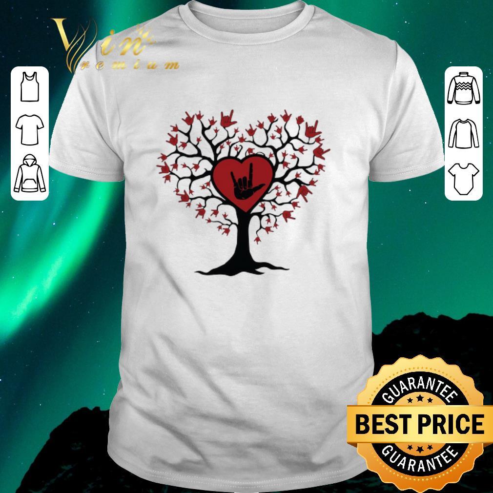 Nice Asl Heart Tree Sign Language I Love You Shirt Sweater Hoodie Sweater Longsleeve T Shirt