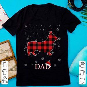 Nice Family Matching Christmas Dad Corgi Red Plaid Pajamas Gifts sweater