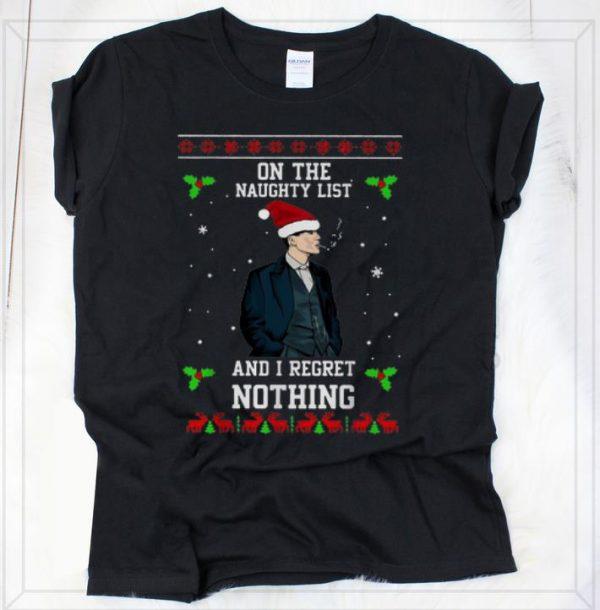 Nice Peaky Blinders On The Naughty List Ugly Christmas shirt