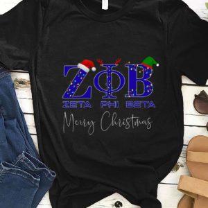 Nice Pin on Zeta Phi Beta Merry Christmas shirt