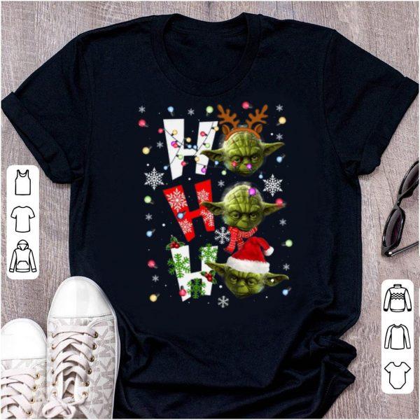 Nice Santa Yoda Ho Ho Ho Christmas shirt