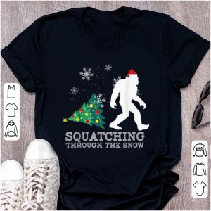 Nice Sasquatching Through The Snow Xmas Gift For Bigfoot Believe sweater
