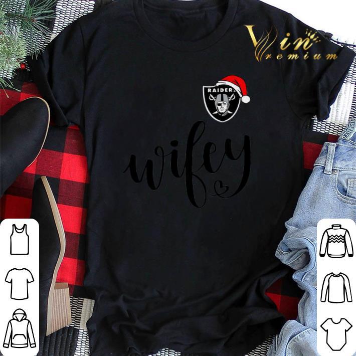oakland raider santa hat wifey christmas shirt sweater hoodie sweater longsleeve t shirt oakland raider santa hat wifey