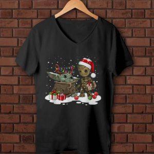 Official Baby Yoda And Groot Santa Christmas shirt