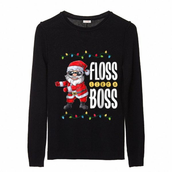 Official Christmas Boys Kids Santa Floss Like A Boss Flossing sweater