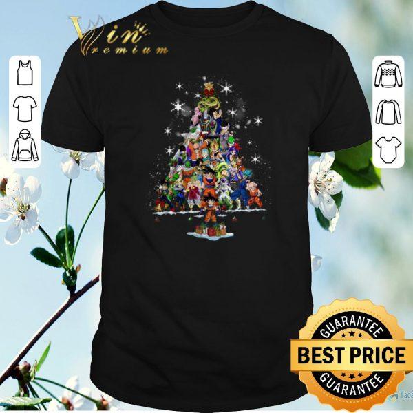 Official Christmas tree Dragon Ball characters shirt