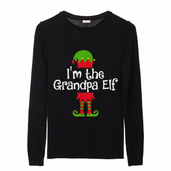 Official Mens I'm the Grandpa Elf Matching Group Photo Xmas sweater