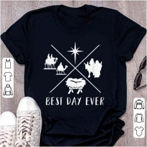 Official Modern Nativity Scene Best Day Ever Christmas sweater