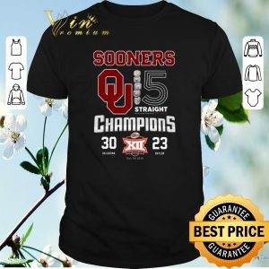 Official Oklahoma Sooners 5 Straight Champions Dr Pepper 30 23 shirt sweater
