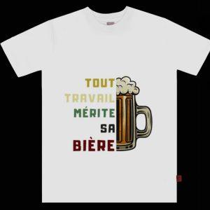 Official Tout travail mérite sa bière vintage shirt