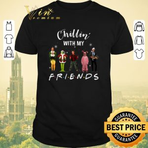 Original Chillin' with my Friends Grinch Elf Home Alone Characters shirt sweater