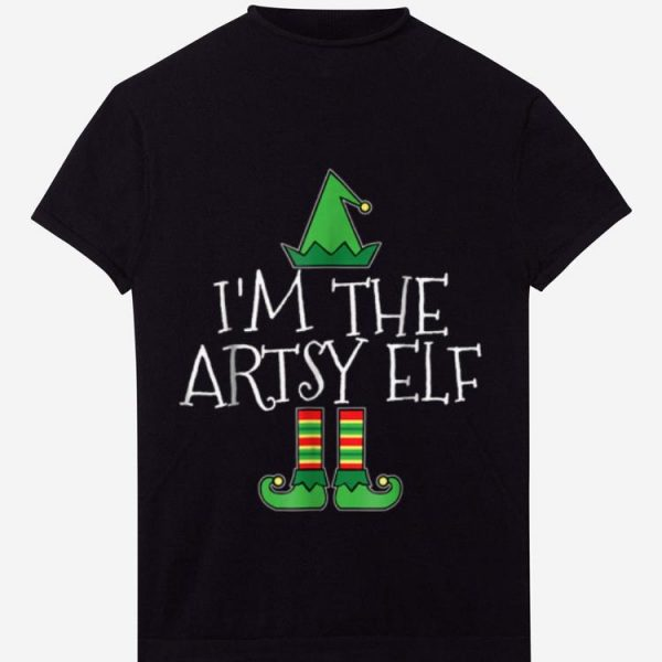 Original I'm The Artsy Elf Matching Family Group Christmas sweater