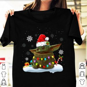 Premium Christmas Santa Baby Yoda Christmas Light shirt