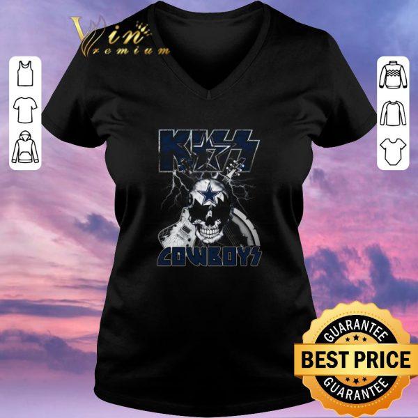 Premium Kiss Cowboys Dallas Cowboys Guitar Skull shirt sweater