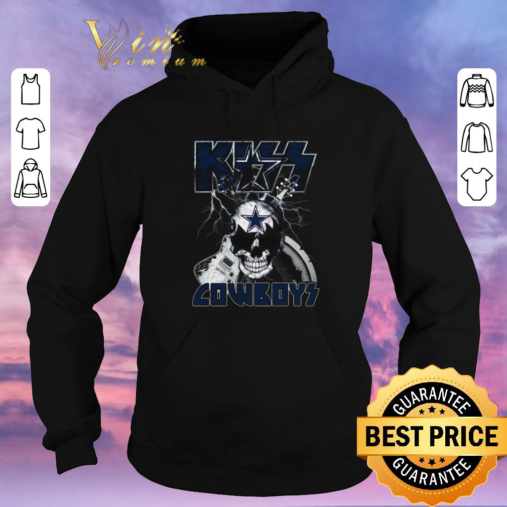 Premium Kiss Cowboys Dallas Cowboys Guitar Skull shirt sweater 4 - Premium Kiss Cowboys Dallas Cowboys Guitar Skull shirt sweater