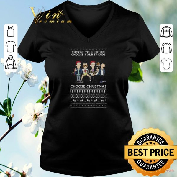 Premium Ugly Christmas Trainspotting choose your future your friends sweater