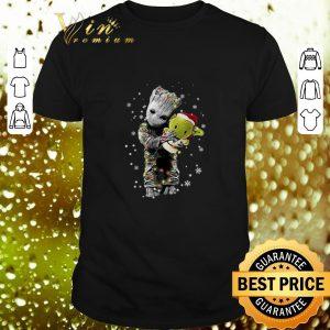 Pretty Baby Groot hugging baby Yoda Christmas shirt
