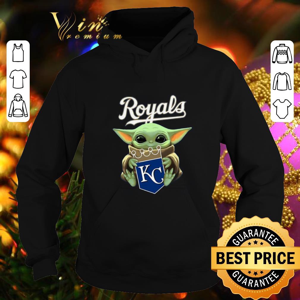 Pretty Baby Yoda Hug Kansas City Royals shirt 4 - Pretty Baby Yoda Hug Kansas City Royals shirt