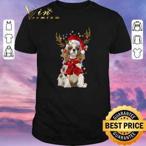 Pretty Christmas Cavalier King Charles Spaniel Reindeer shirt