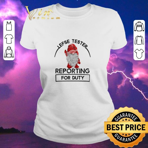 Pretty Gnome lefse tester reporting for duty Christmas shirt sweater