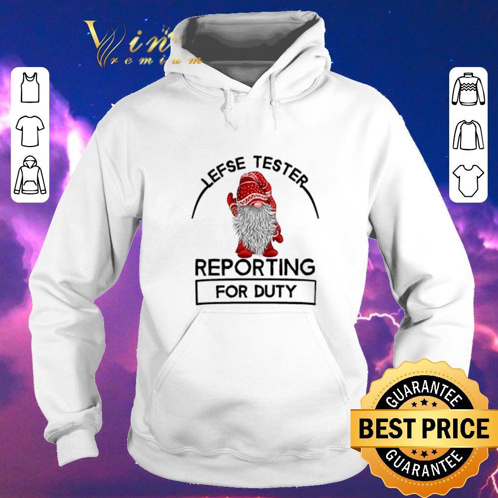 Pretty Gnome lefse tester reporting for duty Christmas shirt sweater 4 - Pretty Gnome lefse tester reporting for duty Christmas shirt sweater