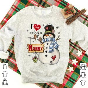 Pretty I Love Being Nanny Snowman - Christmas sweater