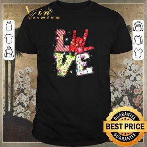 Pretty Love Hand Sign Language Christmas Light Xmas shirt sweater