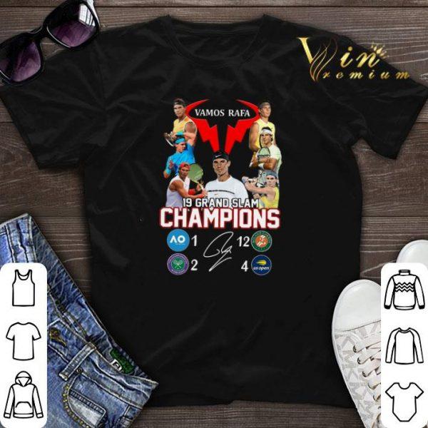 Rafael Nadal Vamos Rafa 19 Grand Slam Champions signature shirt sweater
