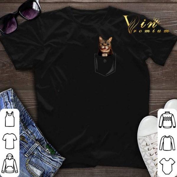 Rip Lil Bub in pocket shirt sweater