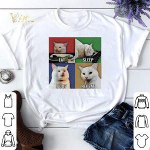 Smudge Cat meme eat sleep poop repeat shirt sweater