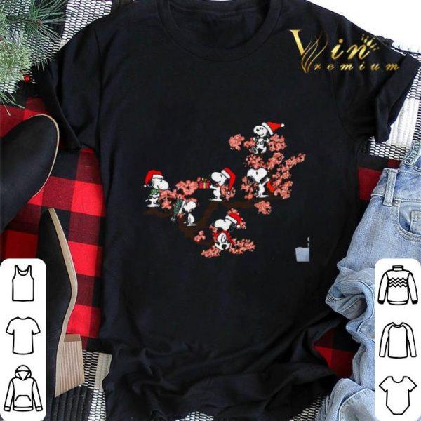 Snoopy under cherry blossom shirt sweater